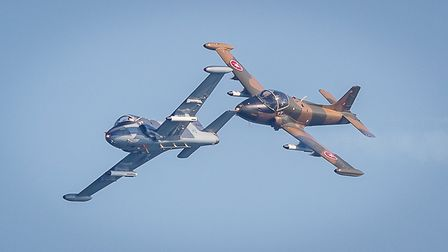 The BAC Strikemaster Pair aerobatic jet team will be among the display teams in Sidmouth. Picture: R