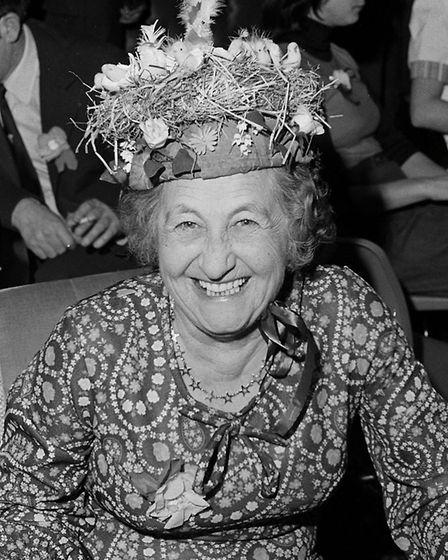 Easter hat competition at Sidmouth Conservative Club. Picture: Sidmouth Herald archives. Ref shs Sid