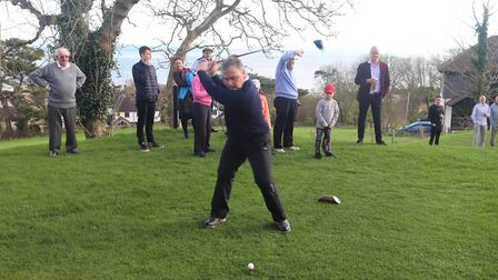 Sidmouth's new captain Neil Holland completes the annual drive-in at the start of his year. Picture