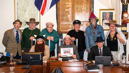 Members of Sidmouth Town Council dusted off their best head wear for Wear A Hat Week. Picture: Kyle
