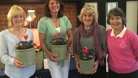 The third placed team at Lady Captain's Spring Meeting; (left to right) Gerri Whitrow, Andrea Milto
