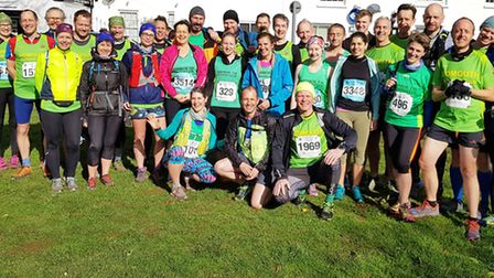 Sidmouth Running Club members before the start of the 2019 Grizzly. Picture SRC