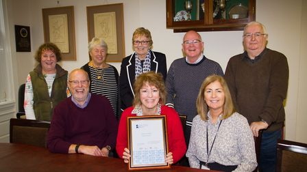 Christine McIntyre with Ottery Council's 'Quality Award'. Ref sho 48 18TI 5682. Picture: Terry Ife