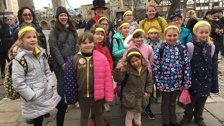 1st Sidmouth Brownies at the Tower of London Picture: 1st Sidmouth Brownies