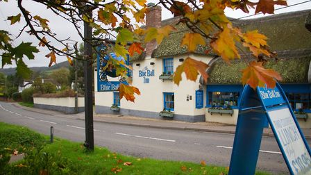 The Blue Ball, Sidford. Ref shs 43 17TI 2368. Picture: Terry Ife