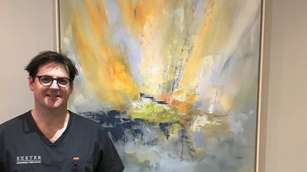 Dr Gary Price, of Exeter Advanced Dentistry, whose favourite work of art is a painting titled 'All i