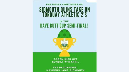 The match poster for the Dave Butt Cup semi-final between Sidmouth II and Torquay Athletic. Picture: