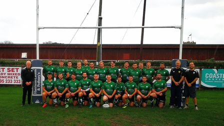 The Sidmouth 2nd XV who will contest the semi-final of the Dave Butt Cup against Torquay Athletic on