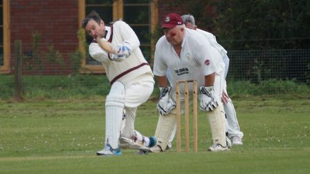 Dave Alford batting for Tipton in the meeting with Newton Poppleford. Picture PHIL WRIGHT