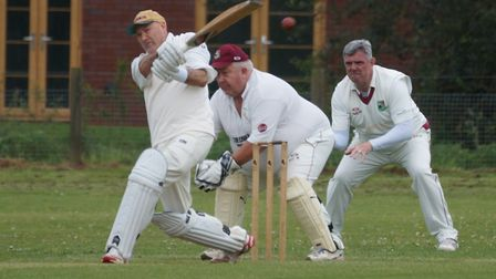 Keith Collins batting for Tipton in the meeting with Newton Poppleford. Picture PHIL WRIGHT