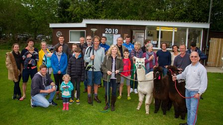 Sidbury cricket Alpaca fundraising event. Ref shs 18 19TI 3615. Picture: Terry Ife