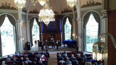Sunday afternoon concert at Sidholme Music Room - Sidmouth Town Band Quartet