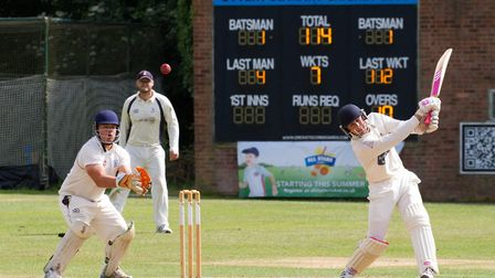 Wicket keeper Alex Clements for Ottery against Sidmouth. Ref shsp 25 18TI 5836. Picture: Terry Ife
