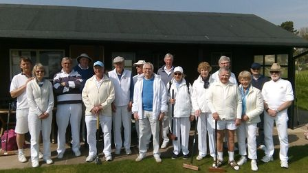 Sidmouth Croquet Club members who took part in a fun, one-ball tournament to raise funds for Alzheim