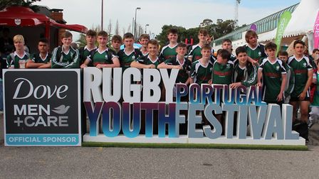 The Sidmouth RFC Under-15 tour party that enjoyed a visit to Portugal during the Easter break. Pictu