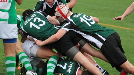 Sidmouth Under-15 action from their visit to Portugal. Picture SRC