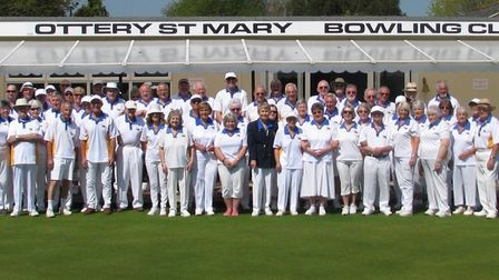 Members of Ottery St Mary Bowls Club at the launch of a new season. Picture MICHAEL SMITH