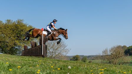 Phoebe Locke and Union Fortunus in action at Bicton. Picture WILLIAM CAREY