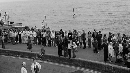 Sidmouth record congaline - 1977. Picture: Sidmouth Herald archives.