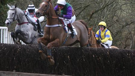 Members' race at Ottery St Mary. P1081-10-10TI Point 2 Point at OSM. The 1st Race.
