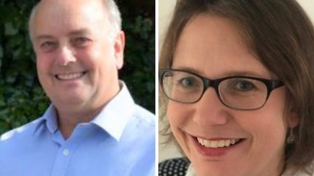 John Sheaves and Jessica Bailey are standing for EDDC's West Hill and Aylesbeare seat. Picture: Cont