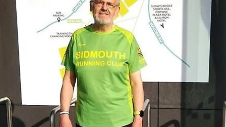 Sidmouth Running Club's David Skinner who, on a visit to Northern Irland, added the letter Q to is l