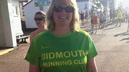 Sidmouth Running Club member Jules Minson who completed her first Parkrun around the Seaton circuit.