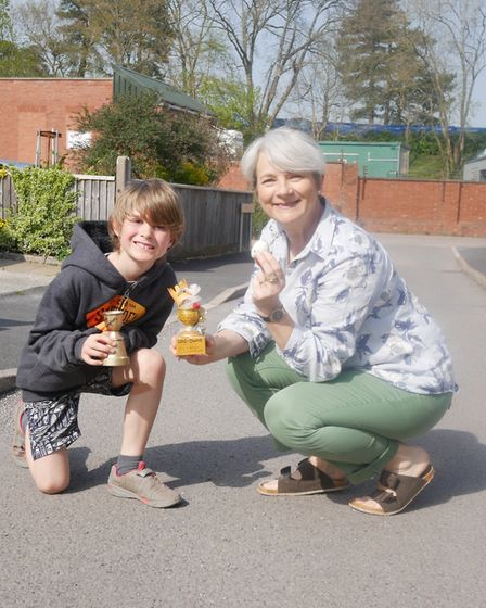 Leo Swallow and Liz Hayman were the winners of the Under 12s and adults competition in the street's