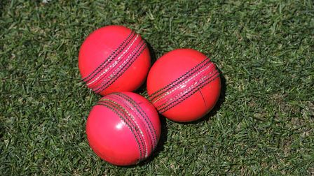 Pink T20 cricket balls. Picture: Getty Images/iStockphoto
