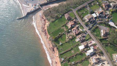 This photograph of Pennington Point and East Cliff was taken for the BMP by a drone at lower altitud