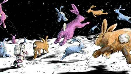 Illustrations from Archie: Space Dog. Picture: Mark Hannon