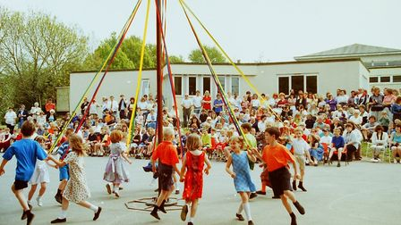 Ottery Primary School May Day celebrations (1999). Picture: Sidmouth Herald archives