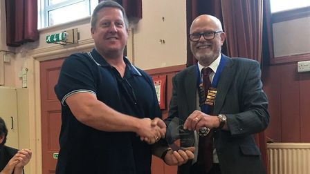 Stuart Phillips, owner of Tickety Boo in Ottery, was awarded the Business of the Year. Picture: Otte