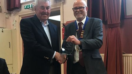 Peter Harris was awarded the Citizen of the Year for all his voluntary work in the town. Picture: Ot