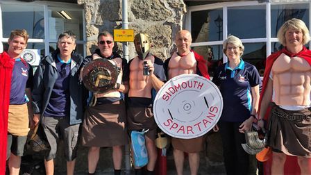 Sidmouth Gig Club members at the World Gig Championships. icture SGC