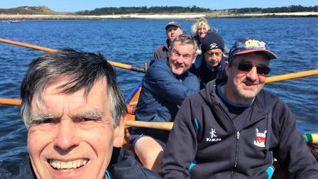 The Sidmouth Gig Club men's B crew. Picture SGC