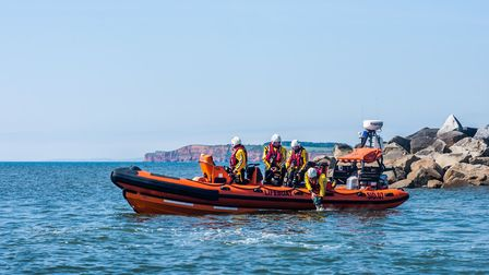 Sidmouth Lifeboat crew pay their respects to fundraiser Freddy Wedderburn by scattering his ashes ou