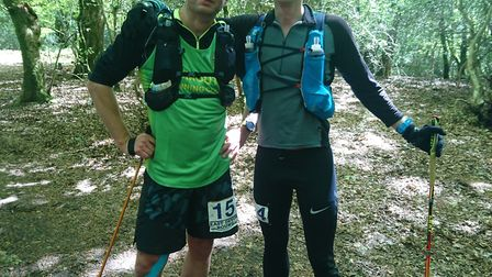 Sidmouth Running Club duo Ross Walton and David Forrer halfway around The East Devon Round, Ultramar