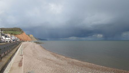 I was in Sidmouth, on Tuesday 2nd April 2019, where the sun was shining between showers. Picture: Lu