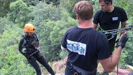 A CHSW abseil at Canonteign Falls. Picture: Children's Hospice South West