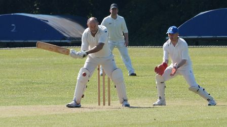 Al Matthews batting for Tipton in the meeting with an Ottery St Mary Sunday XI. Picture PHIL WRIGHT