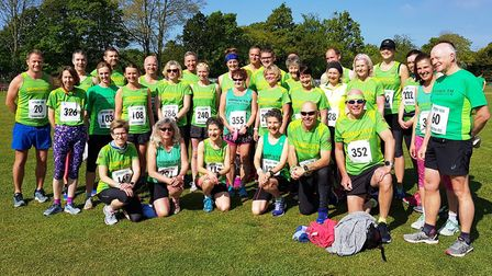 Sidmouth Running Club members at the Ottery 10k. Picture SRC