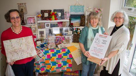 Members of West Country Crafters Alison Young,Sue Fuller,Jo Bayliss and (Sue Britnell, not pictured)