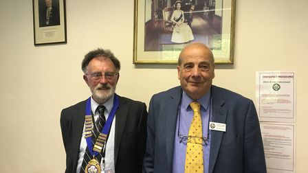 Councillor Roger Giles and Geoff Pratt are the new Ottery Town Council mayor and deputy mayor. Pictu