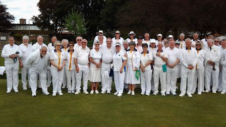 The Welsh touring side Troedyrhiw that visited Sidmouth and won. Picture CAROL SMITH