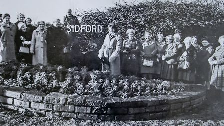 Sidford WI at Stevens Cross. Ref edr 13 19TI 1188. Picture: Sidford WI