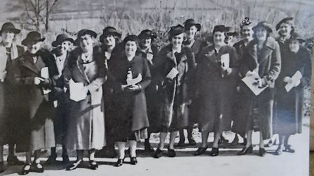 The Sidford WI choir in 1940. Ref edr 13 19TI 1182. Picture: Sidford WI