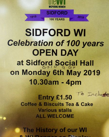 Sidford WI. Ref edr 13 19TI 1192 Picture: Sidford WI