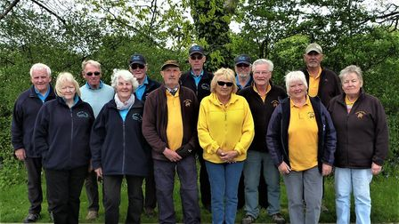 The Honiton and Ottery St Mary petanque teams before their meeting in the Devon League that saw the