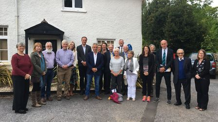 The full Sidmouth Town Council, which has nine new faces following May 2. Picture: Clarissa Placed